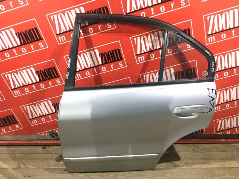 Дверь боковая Mitsubishi Galant EA7A 4G94 1998 задняя левая серебро
