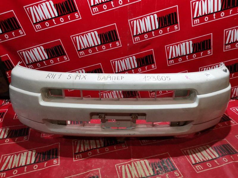 Бампер Honda S-Mx RH1 B20B 1997 передний белый