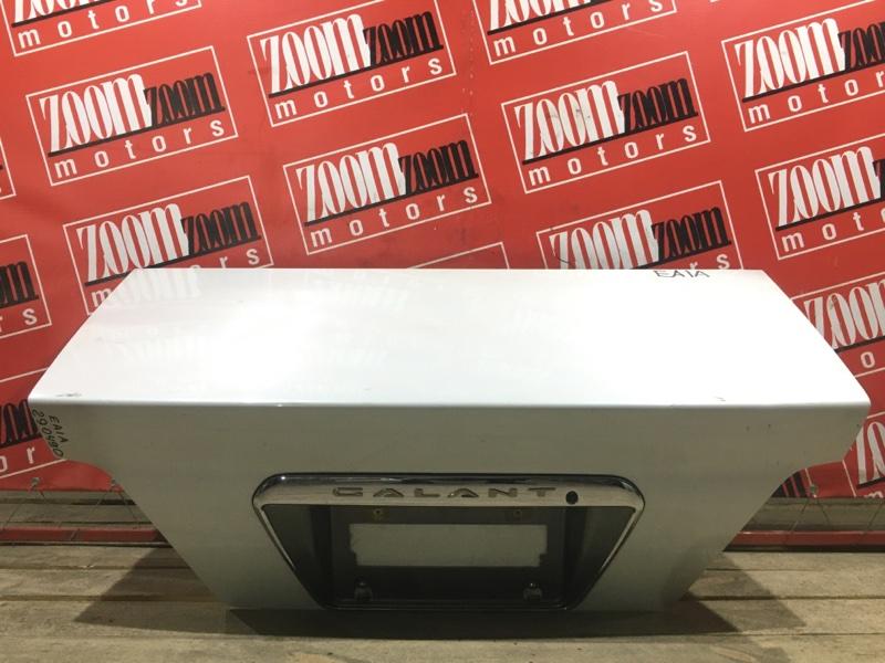 Крышка багажника Mitsubishi Galant EA1A 4G94 1996 задняя белый перламутр
