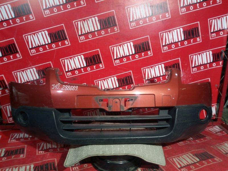 Бампер Nissan Qashqai J10 MR20DE 2006 передний оранжевый