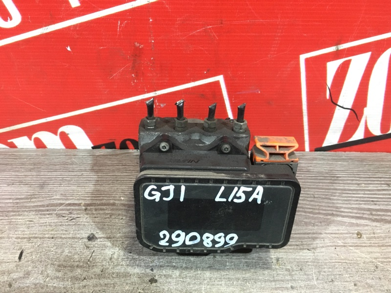 Блок abs (модулятор abs) Honda Airwave GJ1 L15A 2005 передний