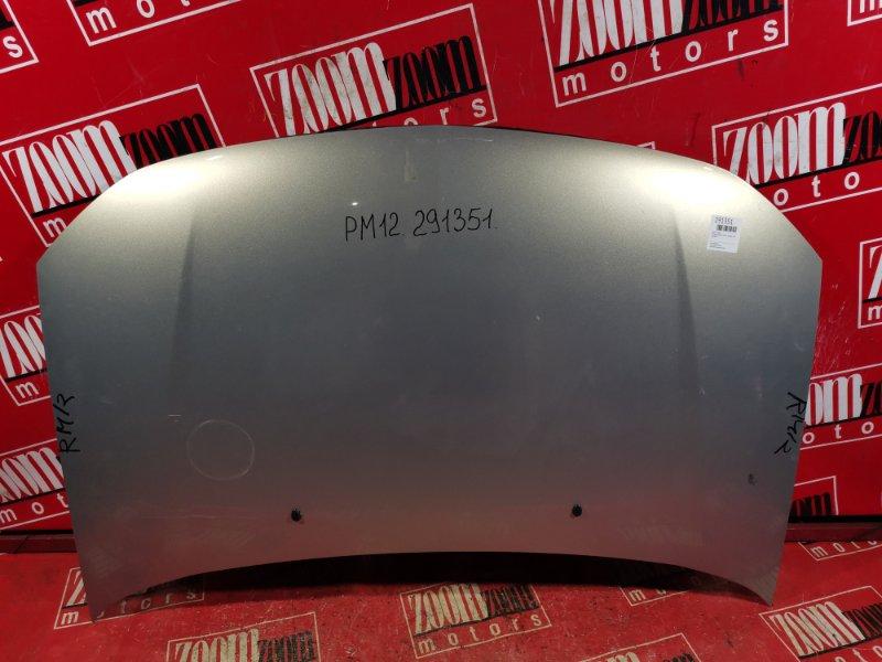 Капот Nissan Liberty PM12 SR20DE 1999 передний серебро