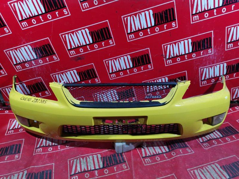 Бампер Toyota Altezza GXE10 1G-FE 1998 передний желтый