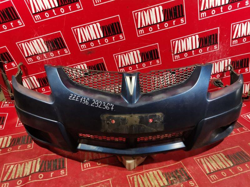 Бампер Toyota Voltz ZZE136 1ZZ-FE 2002 передний синий