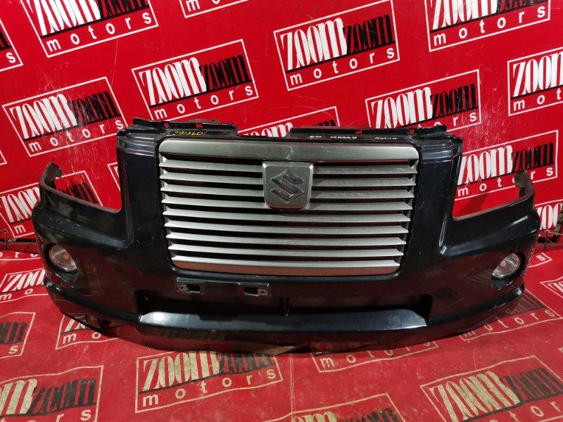 Бампер Suzuki Wagon R Solio MA34S K10A 2002 передний черный
