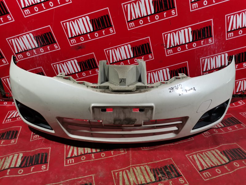 Бампер Nissan Note E11 HR15DE 2004 передний белый перламутр