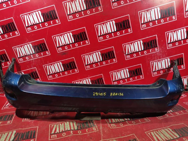 Бампер Toyota Voltz ZZE136 1ZZ-FE 2002 задний темно-синий