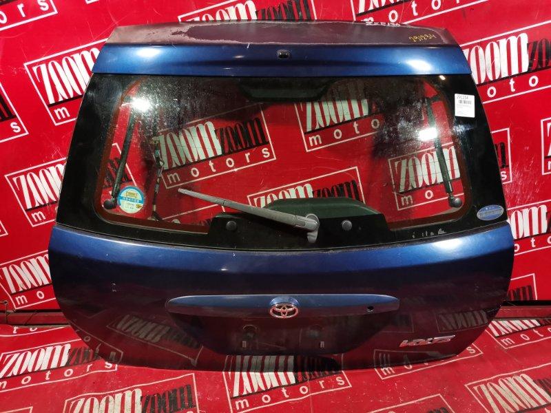 Дверь задняя багажника Toyota Voltz ZZE136 1ZZ-FE 2002 задняя темно-синий