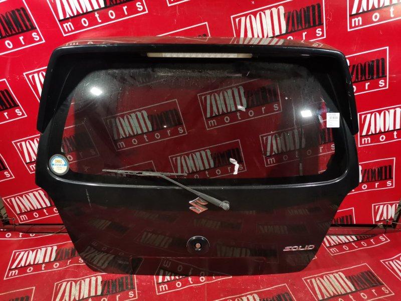 Дверь задняя багажника Suzuki Wagon R Solio MA34S K10A 2002 задняя черный