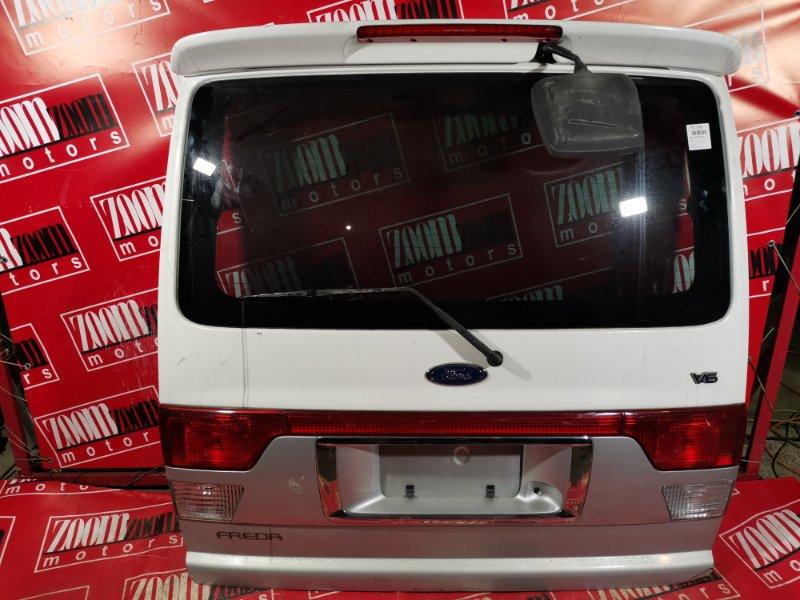 Дверь задняя багажника Mazda Bongo Friendee SGEW FE-E 2001 задняя белый
