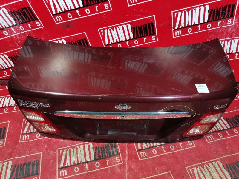 Крышка багажника Nissan Bluebird Sylphy TG10 QG18DE 2000 задняя вишневый