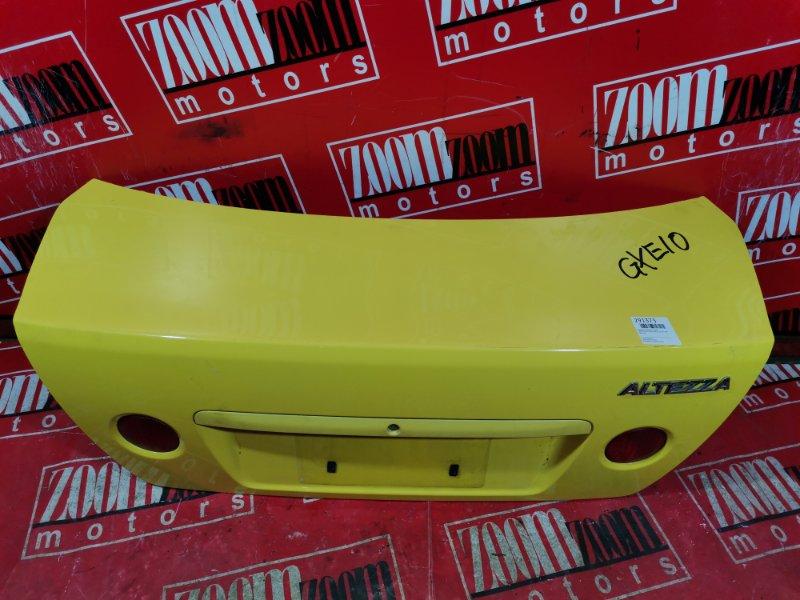 Крышка багажника Toyota Altezza GXE10 1G-FE 1998 задняя желтый