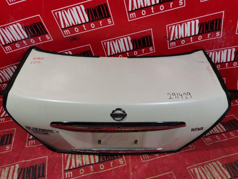 Крышка багажника Nissan Bluebird Sylphy TG10 QG18DE 2003 задняя белый перламутр