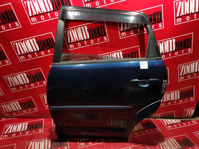 Дверь боковая Toyota Voltz ZZE136 1ZZ-FE 2002 задняя левая синий