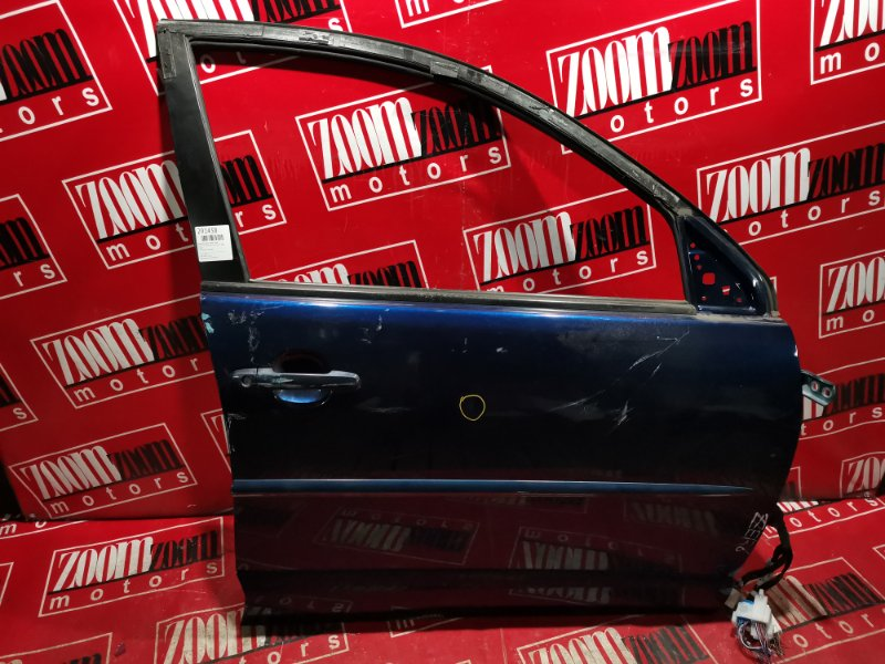 Дверь боковая Toyota Voltz ZZE136 1ZZ-FE 2002 передняя правая синий