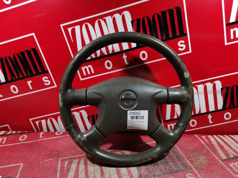 Руль Nissan Bluebird Sylphy QG10 QG18DE 2000 передний коричневый