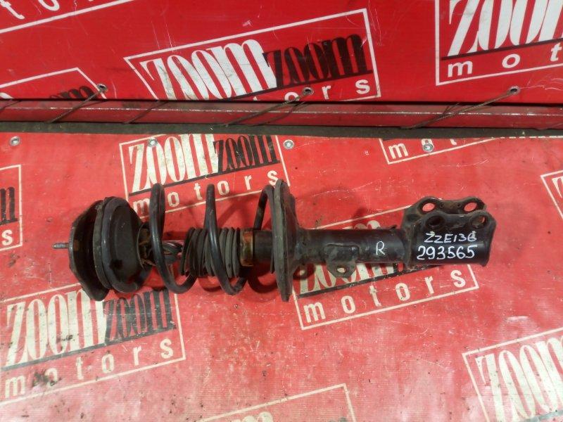 Стойка подвески Toyota Voltz ZZE136 1ZZ-FE 2002 передняя правая