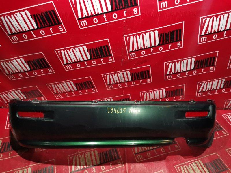 Бампер Toyota Duet M100A EJ-VE 1998 задний зеленый