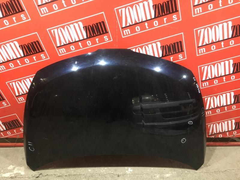 Капот Nissan Tiida C11 HR15DE 2004 черный