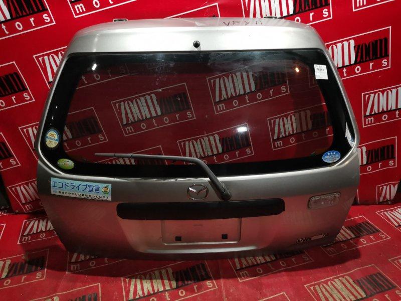 Дверь задняя багажника Nissan Ad WFY11 QG15DE 1998 задняя серебро