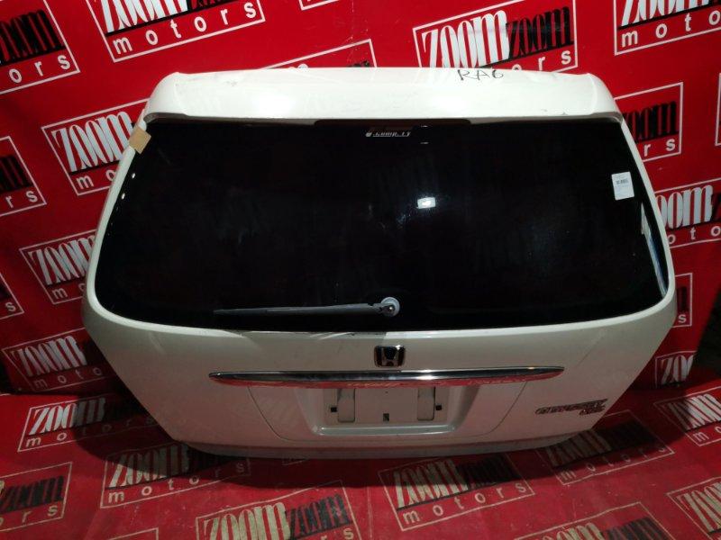 Дверь задняя багажника Honda Odyssey RA6 F23A 1999 задняя белый перламутр