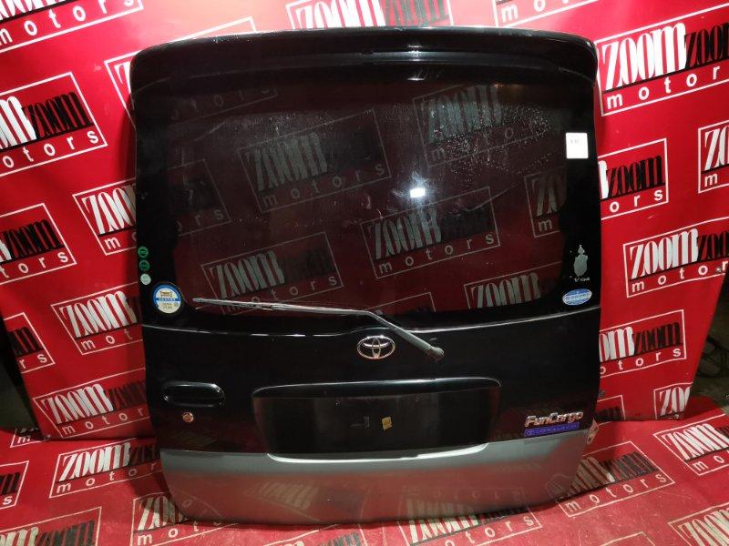 Дверь задняя багажника Toyota Funcargo NCP20 1NZ-FE 1999 задняя черный