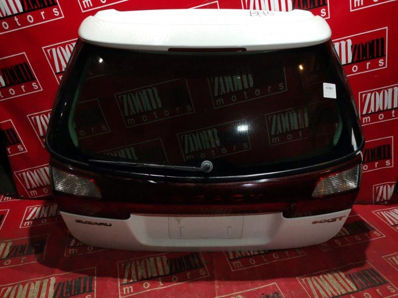 Дверь задняя багажника Subaru Legacy BH5 EJ20 2001 задняя белый