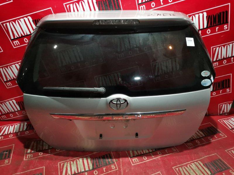 Дверь задняя багажника Toyota Wish ZNE10 1ZZ-FE 2003 задняя серебро
