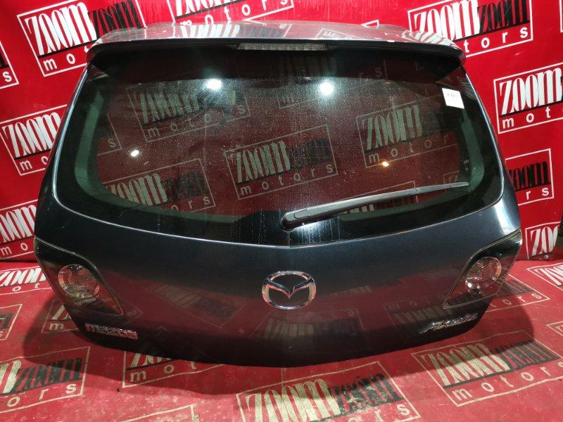 Дверь задняя багажника Mazda Axela BK5P ZJ-VE 2002 задняя темно-серый
