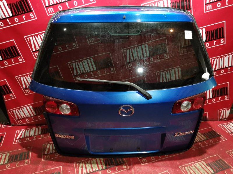 Дверь задняя багажника Mazda Demio DY3W ZJ-VE 2004 задняя синий