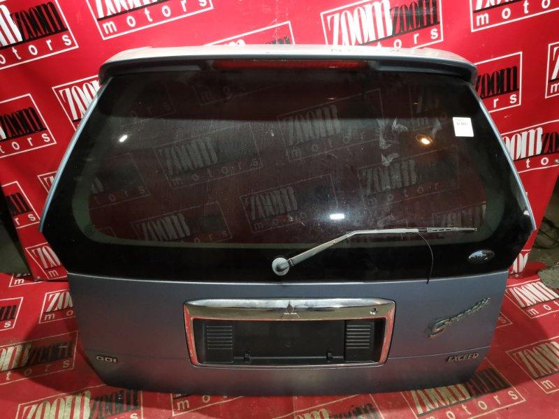 Дверь задняя багажника Mitsubishi Chariot Grandis N84W 4G64 1997 задняя голубой