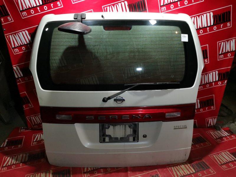 Дверь задняя багажника Nissan Serena C24 QR20DE 2001 задняя белый перламутр