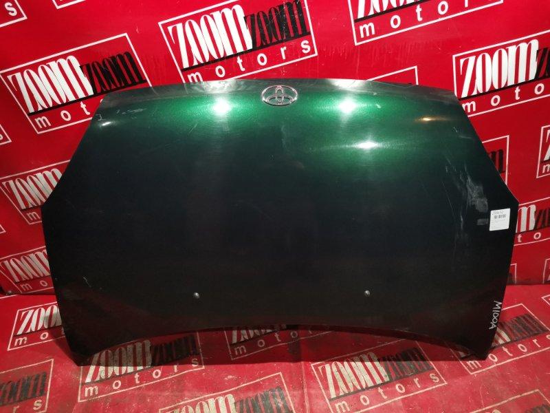 Капот Toyota Duet M100A EJ-DE 1998 передний темно-зеленый