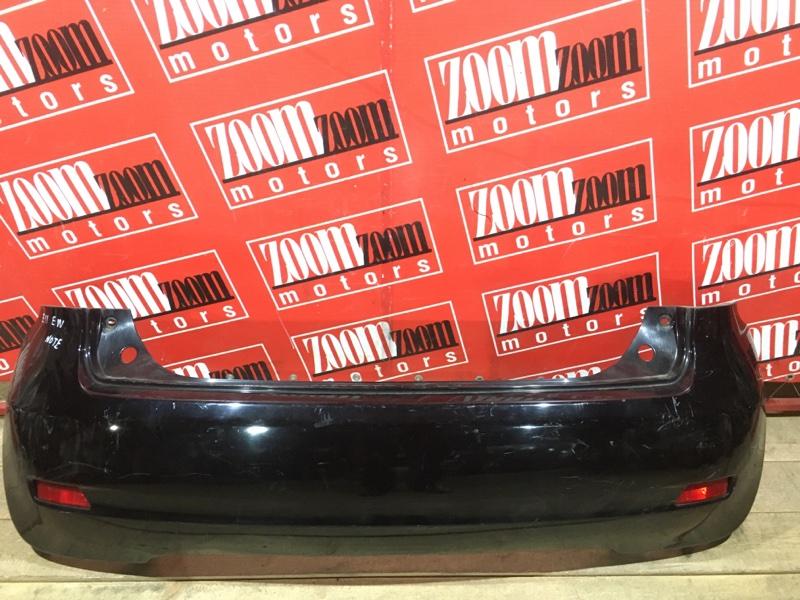 Бампер Nissan Note E11 HR15DE 2008 задний черный