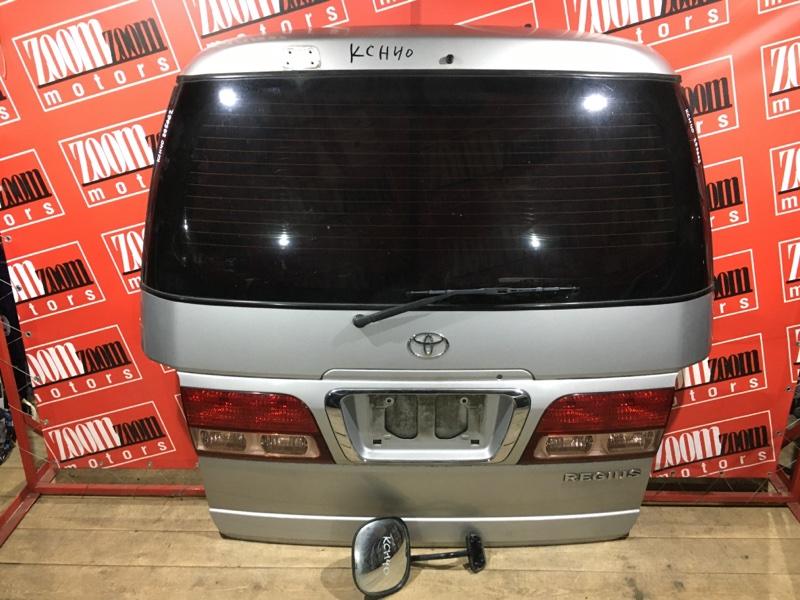 Дверь задняя багажника Toyota Regius KCH40 1KZ-TE 1999 задняя серебро 26-108