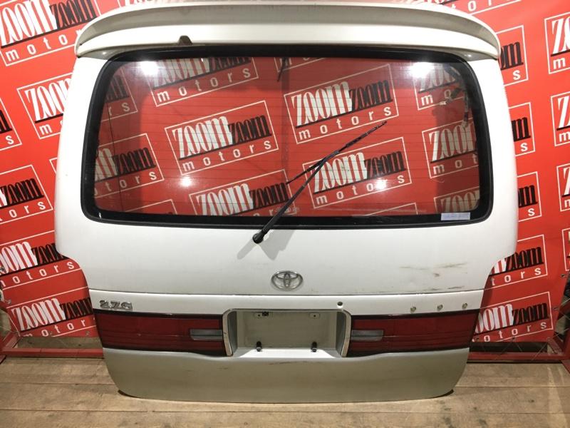 Дверь задняя багажника Toyota Granvia RCH11 3RZ-FE 1995 задняя белый перламутр 26-56