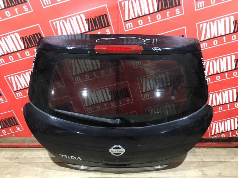 Дверь задняя багажника Nissan Tiida C11 HR15DE 2004 задняя черный