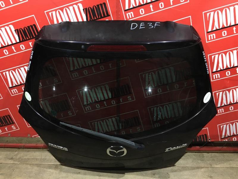 Дверь задняя багажника Mazda Demio DE3FS ZJ-VE 2007 задняя баклажан