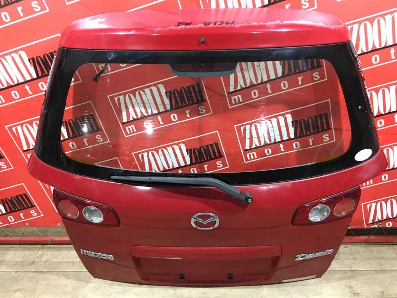 Дверь задняя багажника Mazda Demio DY3W ZJ-VE 2002 задняя красный 44-20