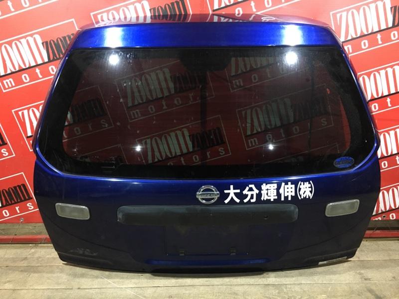 Дверь задняя багажника Nissan Ad VFY11 QG18DE 1999 задняя синий