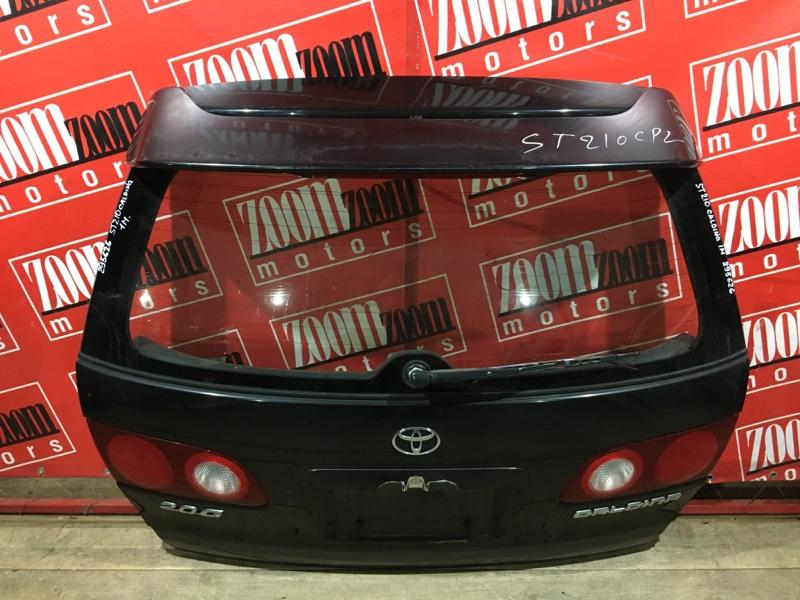 Дверь задняя багажника Toyota Caldina ST210 3S-FE 1997 задняя чёрный 21-37