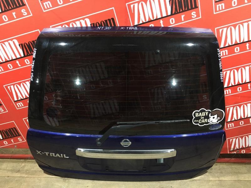 Дверь задняя багажника Nissan X-Trail NT30 QR20DE `2001 задняя синий