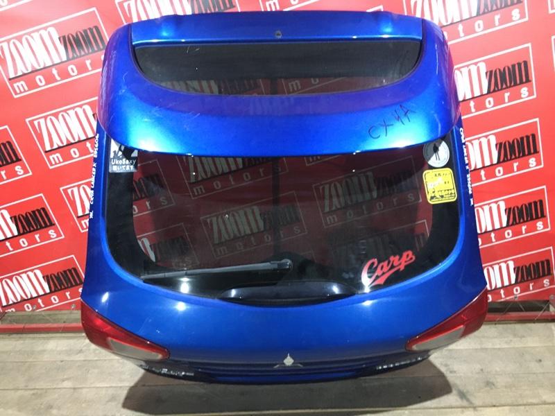 Дверь задняя багажника Mitsubishi Lancer X CX4A 4B11 2007 задняя синий 132-87977
