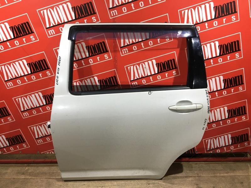 Дверь боковая Toyota Wish ZNE10 1ZZ-FE 2003 задняя левая белый перламутр