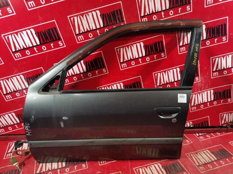Дверь боковая Nissan Primera HP10 SR18DE 1992 передняя левая серый