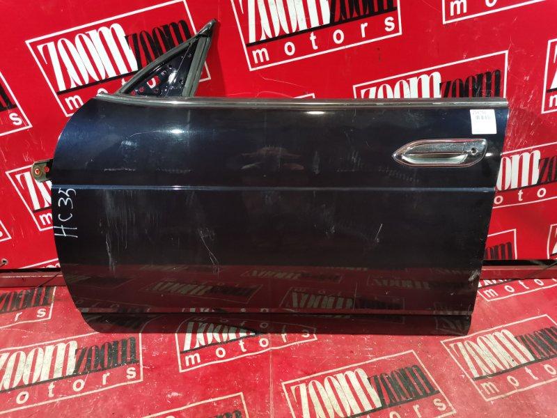 Дверь боковая Nissan Laurel HC35 RB25DE 1997 передняя левая черный