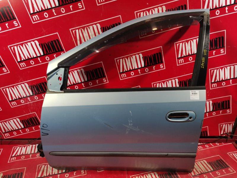 Дверь боковая Nissan Tino V10 QG18DE 1998 передняя левая голубой