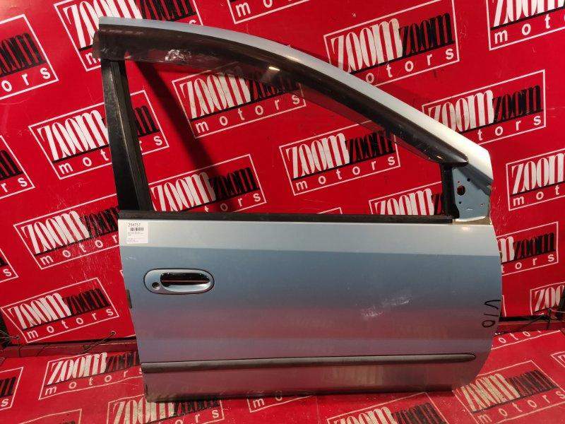 Дверь боковая Nissan Tino V10 QG18DE 1998 передняя правая голубой