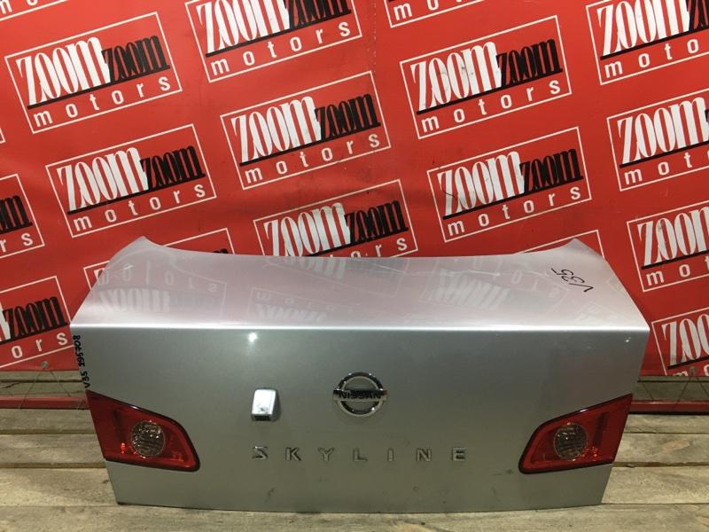 Крышка багажника Nissan Skyline V35 VQ25DD 2001 задняя серебро 132-63790