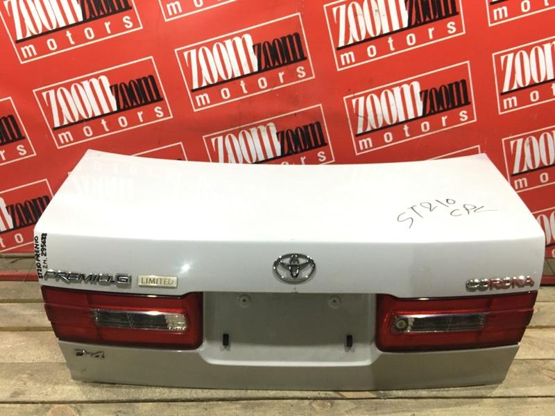 Крышка багажника Toyota Corona Premio ST210 3S-FSE 1998 задняя белый перламутр 20-398